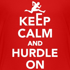 Keep calm and Hurdle on Kids' Shirts - Kids' Premium T-Shirt