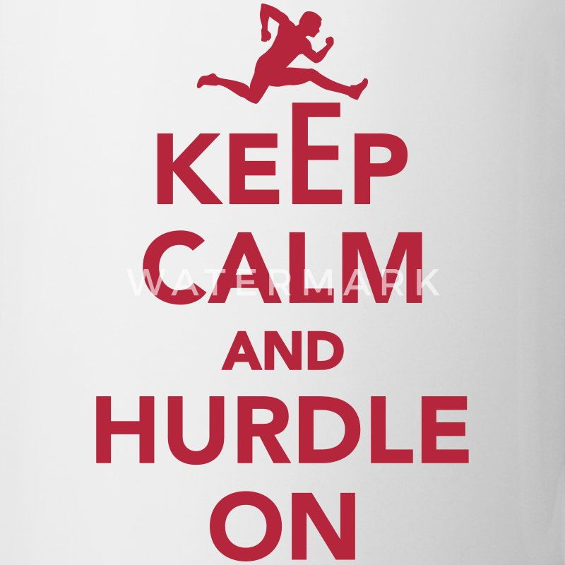 Keep calm and Hurdle on Mugs & Drinkware - Coffee/Tea Mug