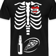 Design ~ Tattoo Dad X-ray Skeleton / pizza & beer