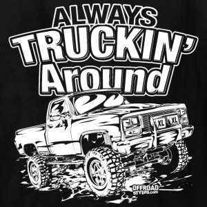 Truckin Around White Kids' Shirts - Kids' T-Shirt