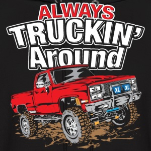 Chevy Truckin Around Red Hoodies - Men's Hoodie