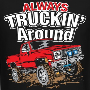 Chevy Truckin Around Red Long Sleeve Shirts - Crewneck Sweatshirt
