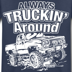 Truckin Around White Kids' Shirts - Kids' Premium T-Shirt