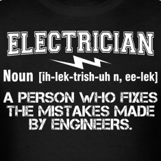 Electrician Person Fixes Mistakes Made By Engineer