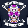 Hook Fast Die Warm Crochet Sew Stitch - Women's T-Shirt
