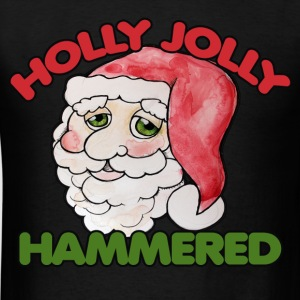 Holly Jolly Hammered Christmas party - Men's T-Shirt