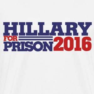 Hillary for PRISON 2016 republican humor - Men's Premium T-Shirt
