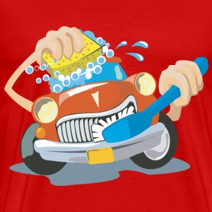 Car wash and Cleaning elements cleansers wheel fun - Men's Premium T-Shirt