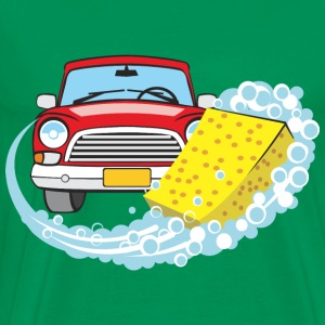 Car wash and Cleaning elements red old car - Men's Premium T-Shirt