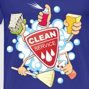 Car-wash-and-Cleaning-elements-clean-service - Men's Premium T-Shirt