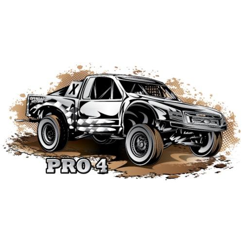 Pro4 Race Truck White