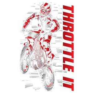 Motocross Throttle It Red