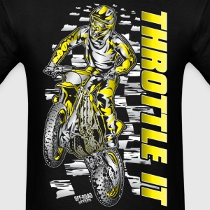 Motocross Throttle It Suzuki T-Shirts - Men's T-Shirt