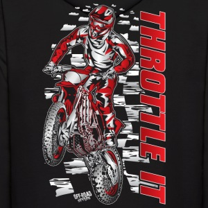 Motocross Throttle It Honda Hoodies - Men's Hoodie