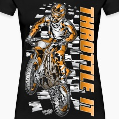 Motocross Throttle It Org Women's T-Shirts