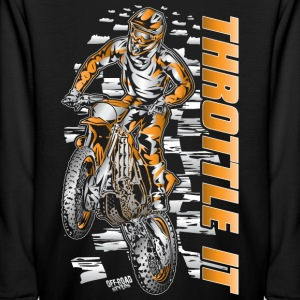Motocross Throttle It Org Kids' Shirts - Kids' Long Sleeve T-Shirt
