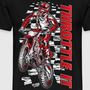 Motocross Throttle It Honda T-Shirts - Men's Premium T-Shirt