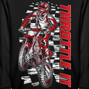 Motocross Throttle It Honda Kids' Shirts - Kids' Long Sleeve T-Shirt