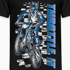 Motocross Throttle It Yamaha Kids' Shirts