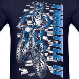 Motocross Throttle It Yamaha T-Shirts - Men's T-Shirt