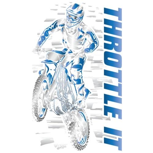 Motocross Throttle It Blu