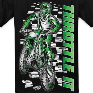 Motocross Throttle It Kawasaki Kids' Shirts - Kids' T-Shirt