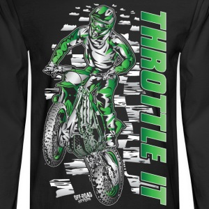 Motocross Throttle It Kawasaki Long Sleeve Shirts - Men's Long Sleeve T-Shirt