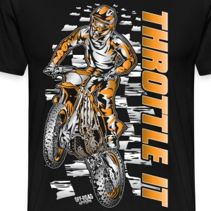 Motocross Throttle It Org T-Shirts - Men's Premium T-Shirt