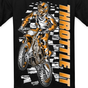 Motocross Throttle It Org Kids' Shirts - Kids' T-Shirt