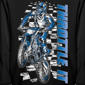 Motocross Throttle It Yamaha Kids' Shirts - Kids' Long Sleeve T-Shirt