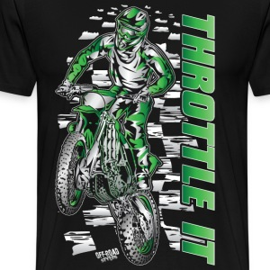 Motocross Throttle It Kawasaki T-Shirts - Men's Premium T-Shirt