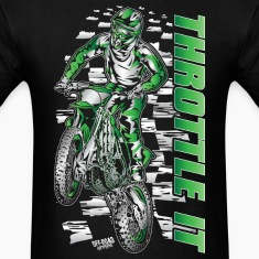 Motocross Throttle It Kawasaki T-Shirts