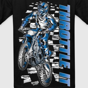 Motocross Throttle It Yamaha Kids' Shirts - Kids' T-Shirt