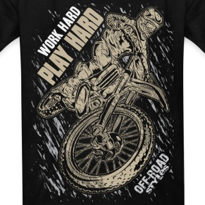 Motocross Play Hard Grey Kids' Shirts - Kids' T-Shirt
