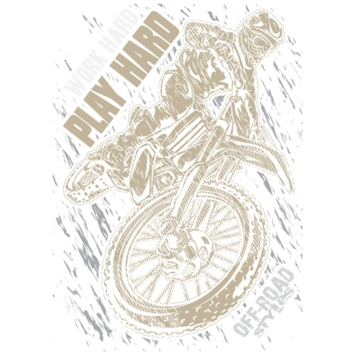 Motocross Play Hard Grey