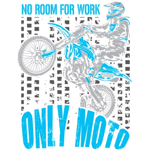 Dirt Biker Only Moto Blue