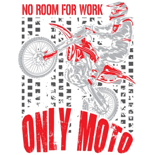 Dirt Bike Only Moto Red