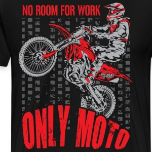Dirt Bike Only Moto Honda T-Shirts - Men's Premium T-Shirt