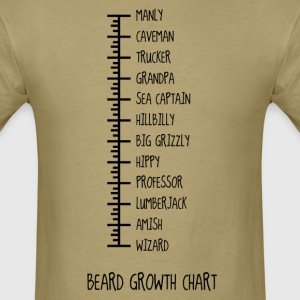 Beard Growth Chart T-Shirts - Men's T-Shirt