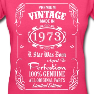 Premium Vintage Made In 1973..... Women's T-Shirts - Women's V-Neck T-Shirt