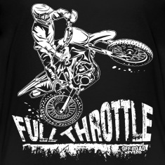 Dirt Biker Full Throttle Kids' Shirts