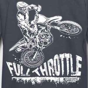 Dirt Biker Full Throttle Kids' Shirts - Kids' Long Sleeve T-Shirt