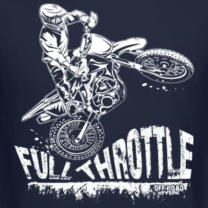 Dirt Biker Full Throttle Long Sleeve Shirts - Crewneck Sweatshirt