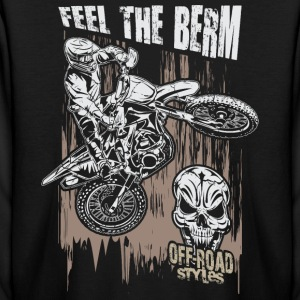 Motocross Feel The Berm Kids' Shirts - Kids' Long Sleeve T-Shirt
