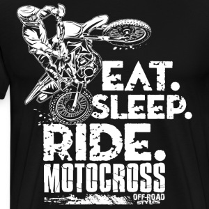 Dirt Bike Eat Sleep Ride T-Shirts - Men's Premium T-Shirt