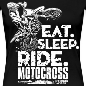 Dirt Bike Eat Sleep Ride Women's T-Shirts - Women's Premium T-Shirt