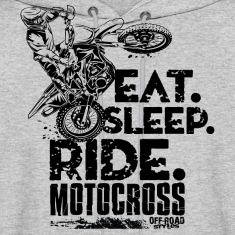 Motocross Eat Sleep Ride Hoodies