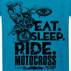 Motocross Eat Sleep Ride Kids' Shirts - Kids' T-Shirt