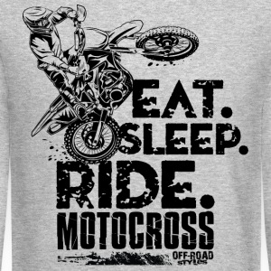 Motocross Eat Sleep Ride Long Sleeve Shirts - Crewneck Sweatshirt
