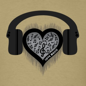 Love Music rhythm heart beat Men's TShirt - Men's T-Shirt